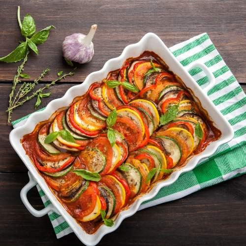20 recetas fáciles con aceite de oliva: ratatouille