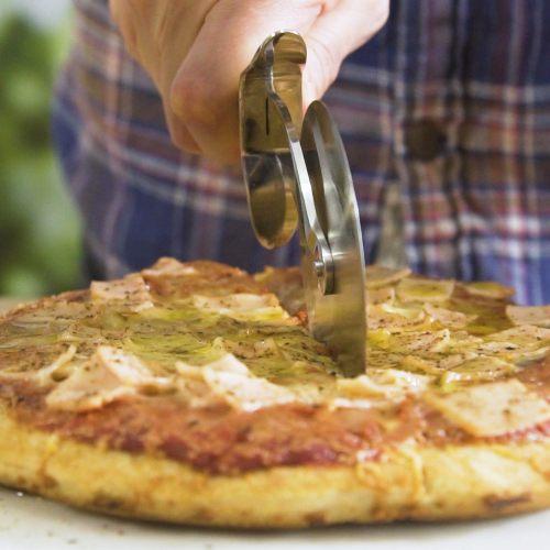 Pizza sin horno en pocos minuto
