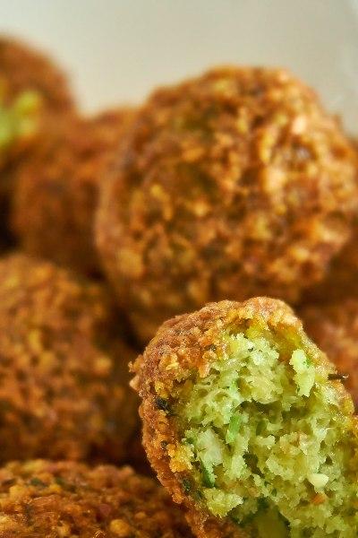 Comida mediterránea: falafel.