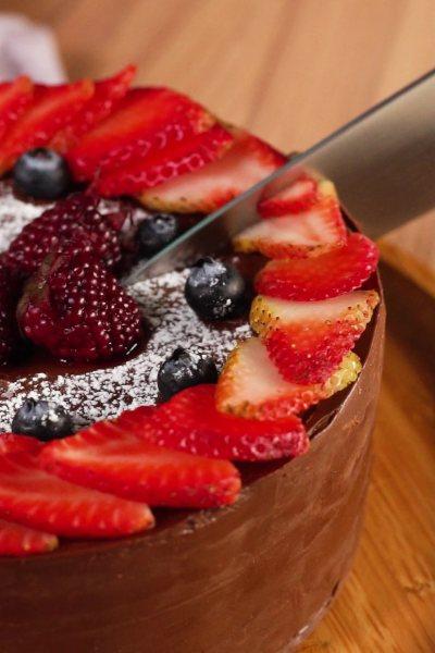 Cómo hacer torta de ganache casera.